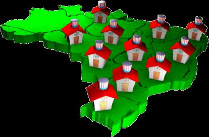 Mapa Brasil Franqueado - Inglês Athus