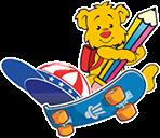 Urso e Skate - Inglês Athus