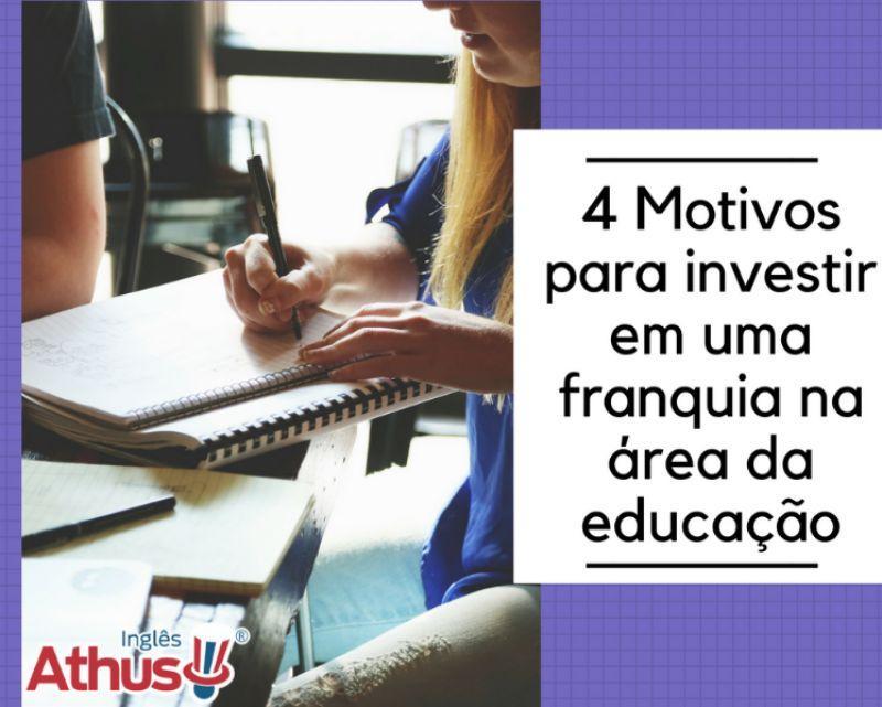 Quatro motivos para investir em uma franquia na área da educação